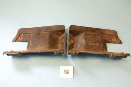 1976-1977 Corvette C3 Original Seat Belt Retractor Cover Pair GM 362974 & 362973, Used Good